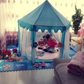 Rosa Azul Verde rendas kawaii Criança tenda + esteira do jogo chão casa de jogo crianças brinquedos do bebê interior tenda crianças castelo da princesa do brinquedo