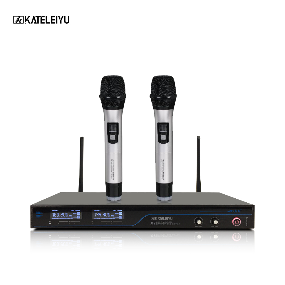 Professional Wireless Microphone X7 whole LCD Control screen Sound good quality Church singing home karaoke lenovo original um10c portbale wired microphone karaoke microphone professional concert live wireless microphone for smartphone