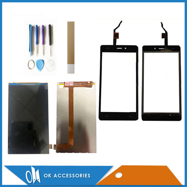 5.0 Inch For <font><b>Doogee</b></font> <font><b>X5</b></font> <font><b>Pro</b></font> Separate <font><b>LCD</b></font> Display With Touch Screen Sensor Glass Digitizer Black Color With Tools Tape image