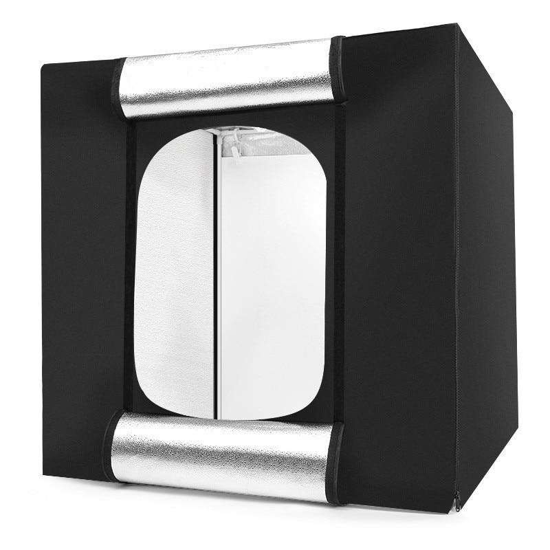 Gematigd Tycipy Softbox 80*80 Draagbare Lightbox Stalen Frame Met Witte Achtergrond Voor Fotografie Photo Light Studio Doos Tafel Schieten