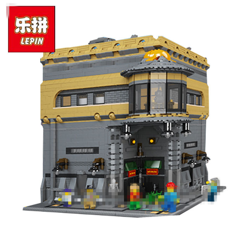 New LEPIN 15015 5003pcs City Creator The dinosaur museum Model Building Kits Blocks Bricks Compatible Toys Gift lepin 22001 pirate ship imperial warships model building block briks toys gift 1717pcs compatible legoed 10210