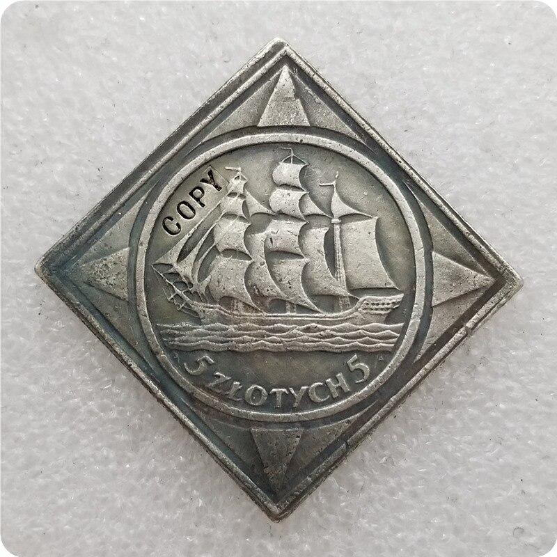 Памятные монеты 1936, копия польских монет-копия монеты коллекционные монеты