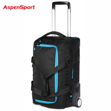AspenSport Unisex Duffle Bag Men 20″Trolley Bag Oxford Trolley Extended Trip Bag Rolling Luggage Carry On Hand Luggage bag