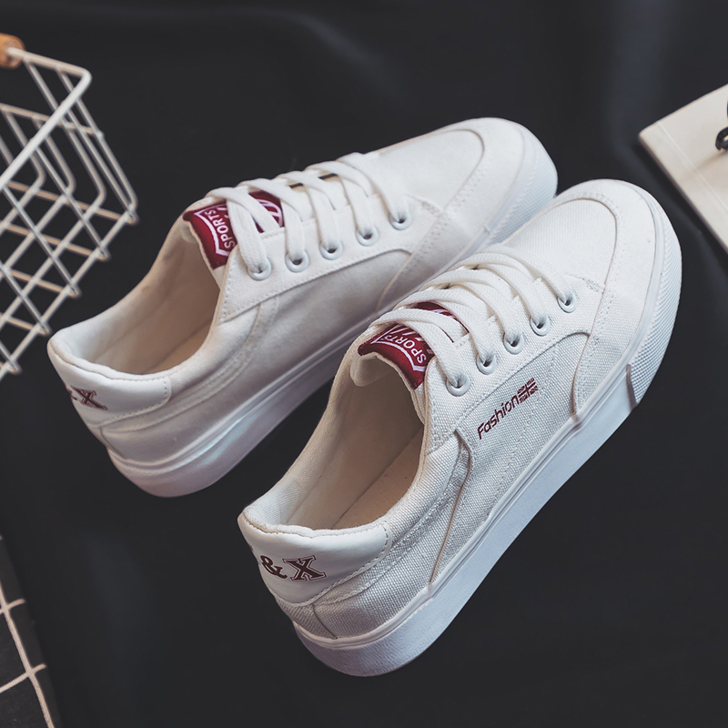 Fashion Style Women Canvas Vulcanized Shoes Simple Design Anti-Skid Sneakers for Female Comfortable Wear Resistant Casual Shoes 4