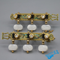1 Pair Left and Right Classical Guitar String Tuning Pegs Pure Copper Inlay Shell Machine Heads Tuners Keys Parts 3L3R HY102S AW