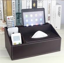 Imitation suede leather rectangle tissue box dispenser case napkin holder home decoration car covers accessory black 2115B