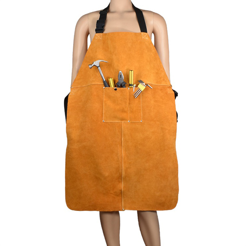 Leather Welding Apron Special Protection Workwear Clothing Apron Argon-arc Workplace Safety Clothing Self Protect Aprons