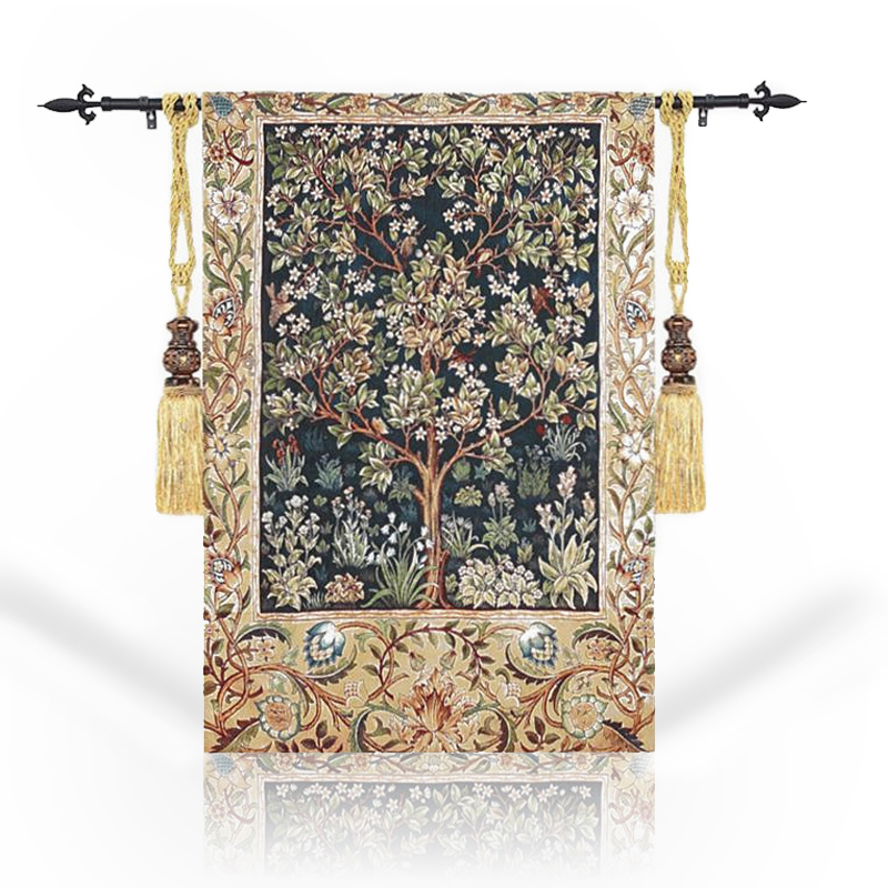 Tree of life Belgium Tapestry Wall Carpet Moroccan Decor Tapestry Gobelin Home Decoration Wall Cloth Hanging Wall Tapestries