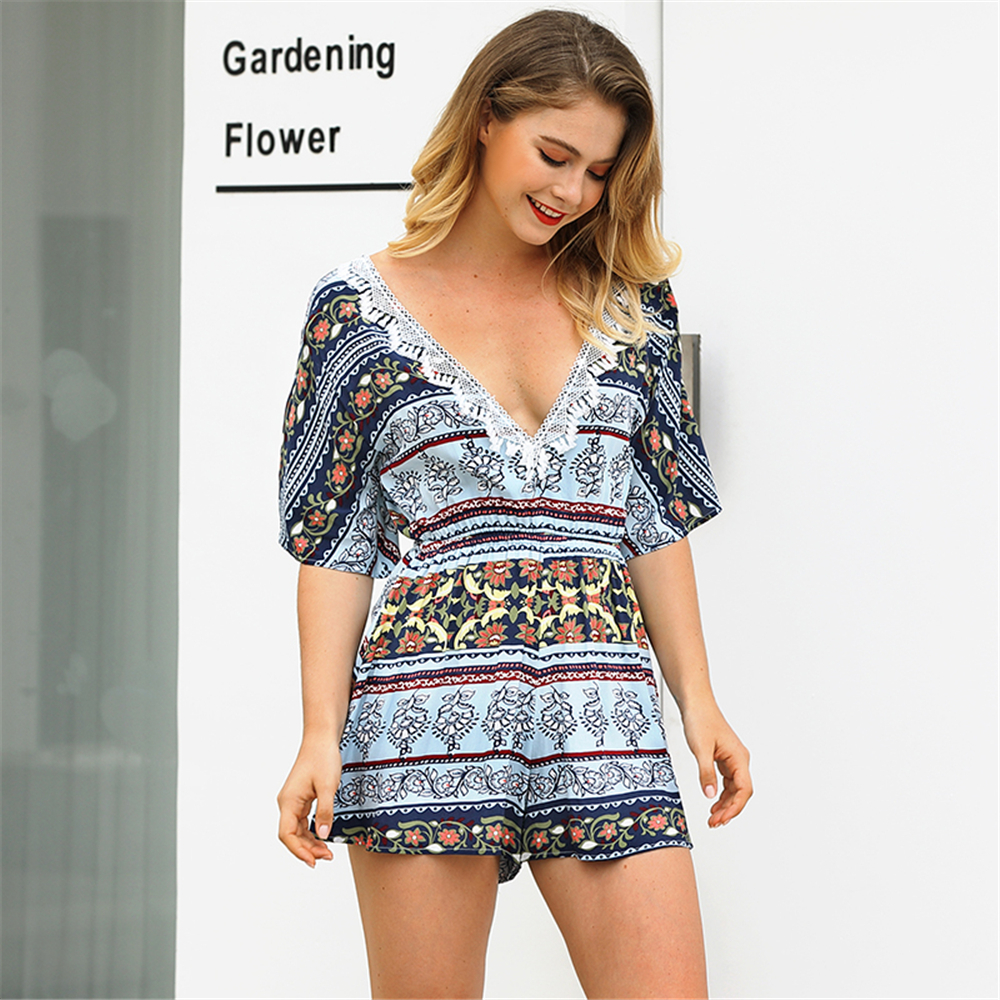 Jumpsuits For Women 2018 Fashion Casual Elegant Rompers Womens Jumpsuit Sexy Bodysuit Women Overalls Holiday Mono Mujer Boho