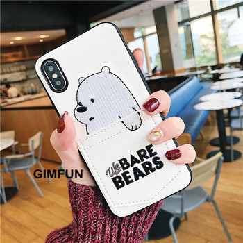 Luxury Leather Cartoon Bear Phone Case For All iPhone 1