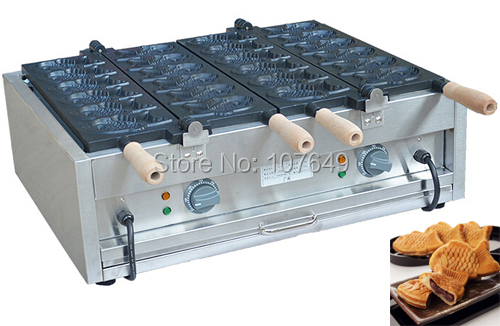 Hot Sale 12pcs Commercial Use Non-stick 110v 220v Electric Taiyaki Baker hot sale 12pcs commercial use non stick 110v 220v electric taiyaki baker
