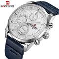 Neue Herren Uhren NAVIFORCE Top Marke Luxus Wasserdichte 24 stunde Datum Quarzuhr Mann Mode Leder Sport Armbanduhr Männer uhr