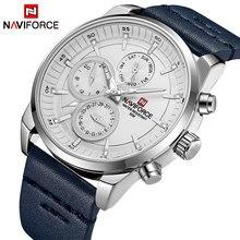 NAVIFORCE – montre-bracelet en cuir pour hommes, nouvelle marque de luxe, étanche, à Quartz, à la mode, Sport, nouvelle collection