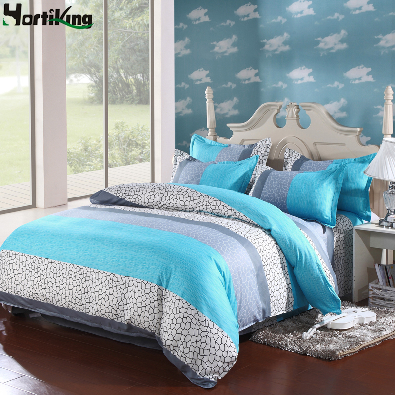 Comfortable cotton luxury bedding set duvet cover set king for Types of bed covers