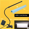 2 Níveis de escurecimento lâmpada de mesa, levou clipe lâmpada, lâmpada de 6 W tubo de alumínio flexível, 50%, 100% brilho ajustável luz braçadeira, TD510