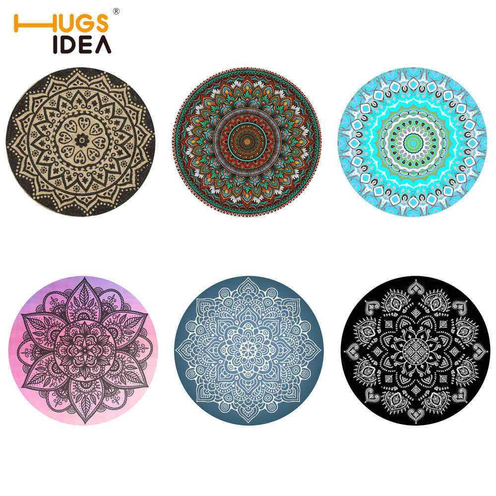 Hugsidea 6pcs Lot Mandala Style Table Placemats Simple And