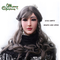 EYUNG Goddess Alice female face with light makeup for crossdresser Masquerade Transgender lovers drag queen shemale boob breast