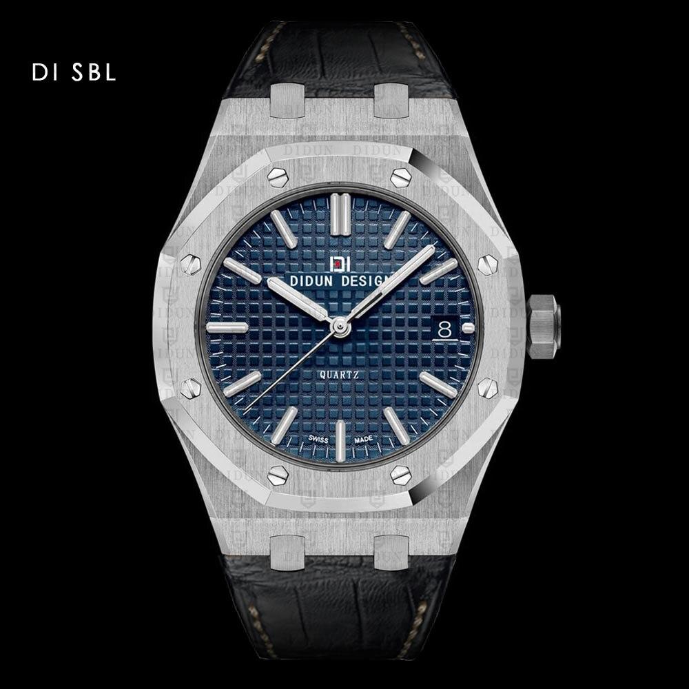 DIDUN Для мужчин часы лучший бренд класса люкс кварцевые часы модные Бизнес мужской часы противоударный 30 м Водонепроницаемый Leatherstrap наручны...