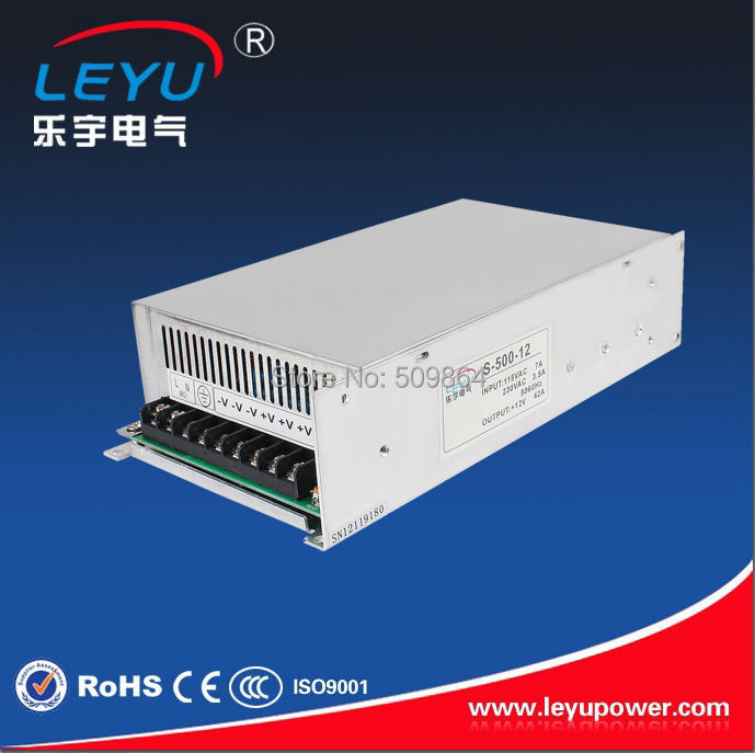 High power 500w switching power supply CE RoHS approved S-500 dc output 12v dc power supply ce rohs 2000w 48v 40a high power switching power supply
