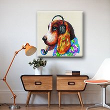 professional aritist 100% Hand Painted animal Oil Paintings On Canvas cartoon oil paintings for kids room wall picture