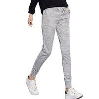 Plus Size S 3XL Casual Pants New Fashion Pantalones Mujer Wild Narrow Trousers Bandage Sweatpants Elastic