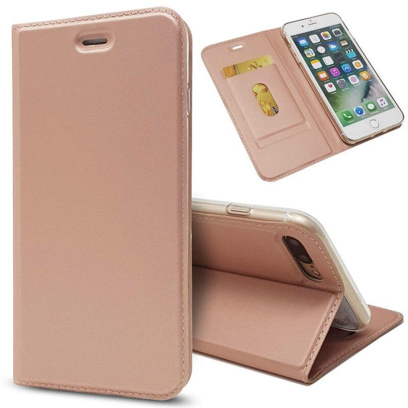 TobeThird De Luxe En Cuir Flip Cas pour iPhone 7 Plus Portefeuille livre Couverture pour iPhone 7 Plus/8 Plus 5.5 téléphone Cas Hoesje Coque