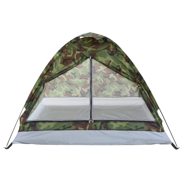 TOMSHOO 1/2 Person Camping Tent Beach Tent Single Layer Tent Portable Camouflage Polyester PU1000mm Camping Hiking Outdoor Tent 2