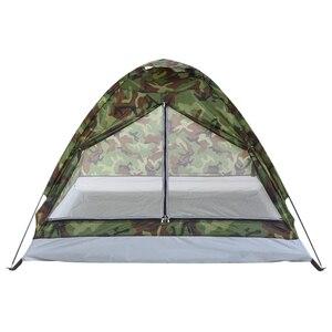 Image 2 - TOMSHOO 1/2 אדם קמפינג אוהל חוף אוהל שכבה אחת אוהל נייד הסוואה פוליאסטר PU1000mm קמפינג טיולים חיצוני אוהל