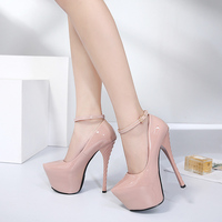 Odinokov 16cm High Thin Heels Patent Leather Pointed Toe Party shoes Buckle Strap Designer Shoe And Bag Set Platform Sexy Pumps