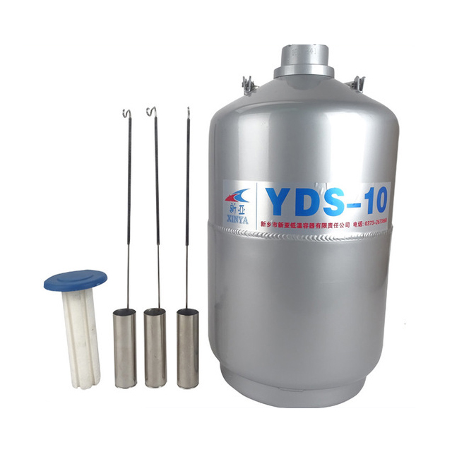 Free ship by DHL 10L YDS-10 High Quality Liquid nitrogen container Cryogenic Tank Dewar with Straps