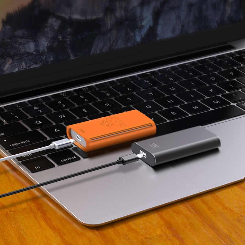 DM الخارجية وسيط تخزين ذو حالة ثابتة/ القرص الصلب FS300 1 تيرا بايت المحمولة SSD قرص صلب خارجي hdd لأجهزة الكمبيوتر المحمول مع نوع C USB 3.1 256 GB 512 GB رمادي