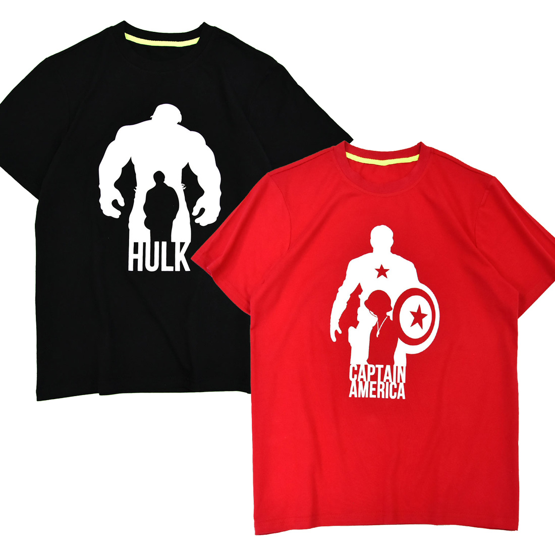 T-Shirt Avengers Short-Sleeves 3d-Printed Boys The Hulk Battle Final Captain-America