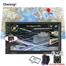 7020 г двойной 2 DIN car audio авто-радио Bluetooth 7 »DVR Сенсорный экран Авторадио 2din gps навигации стерео FM USB TF автомобилей Радио