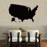 America map Globe Earth Country wall vinyl sticker custom made home decoration fashion design