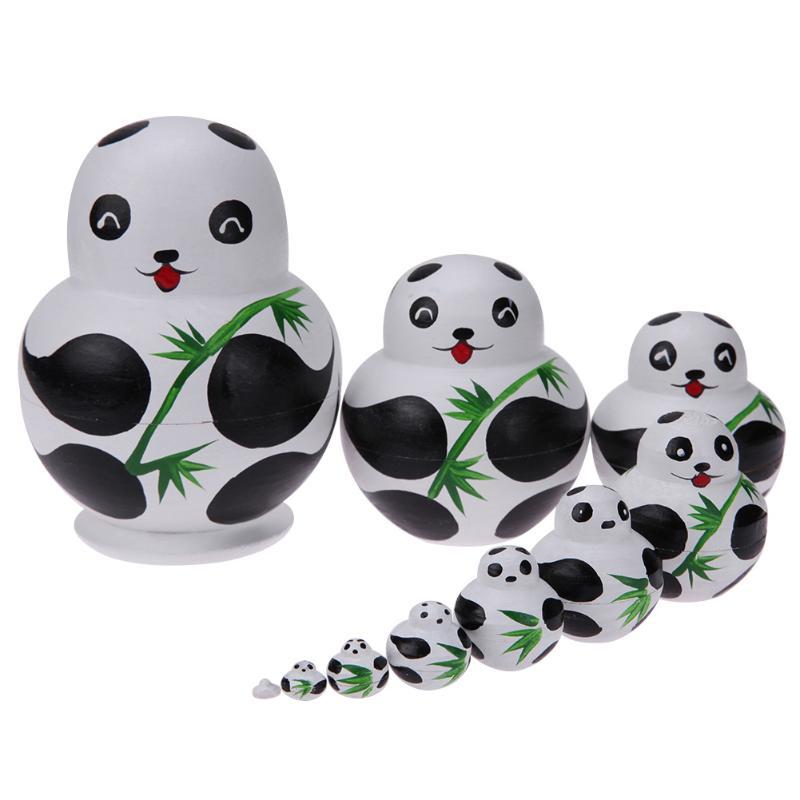 בייבי צעצועים מעץ 10pcs Matryoshka בובה הגדר - בובות ואביזרים