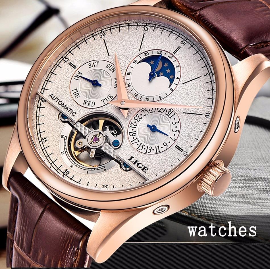 HTB1bV41fDJYBeNjy1zeq6yhzVXa0 LIGE Brand Men Watches Automatic Mechanical Watch Tourbillon Sport Clock Leather Casual Business Wrist Watch Gold Relojes Hombre