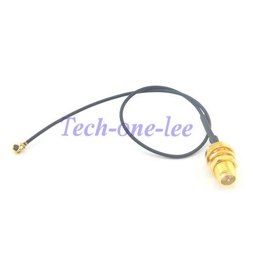 bilder für 5 teile/los Mini PCI U. FL auf RP sma-stecker Antenne WiFi zopf Kabel IPX zu RP-SMA Jack Männlich Pin Adapter Verlängerungskabel