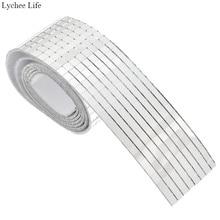 Lychee Life de vidrio adhesivo para manualidades miniespejos cuadrados azulejos de mosaico para manualidades DIY decoración del hogar