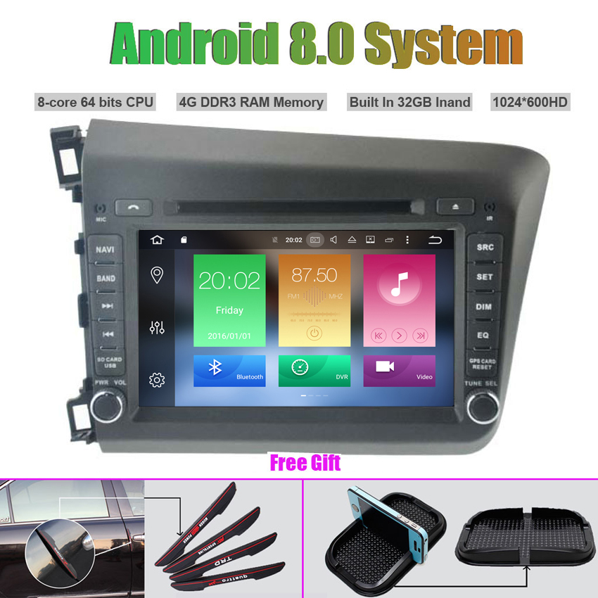 Octa-Core Android 8.0 CAR DVD Player for HONDA CIVIC 2012 Auto RADIO STEREO GPS navigationOcta-Core Android 8.0 CAR DVD Player for HONDA CIVIC 2012 Auto RADIO STEREO GPS navigation