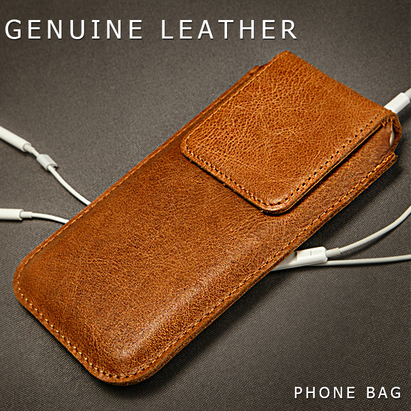 reputable site cc6dd f28a8 US $16.94 30% OFF|Jisoncase Phone Case For iPhone 6 6 Plus Bag Genuine  Leather For iPhone 6s 6s Plus Sleeve Pouch Cover Magnetic buy 1 get 1  free-in ...