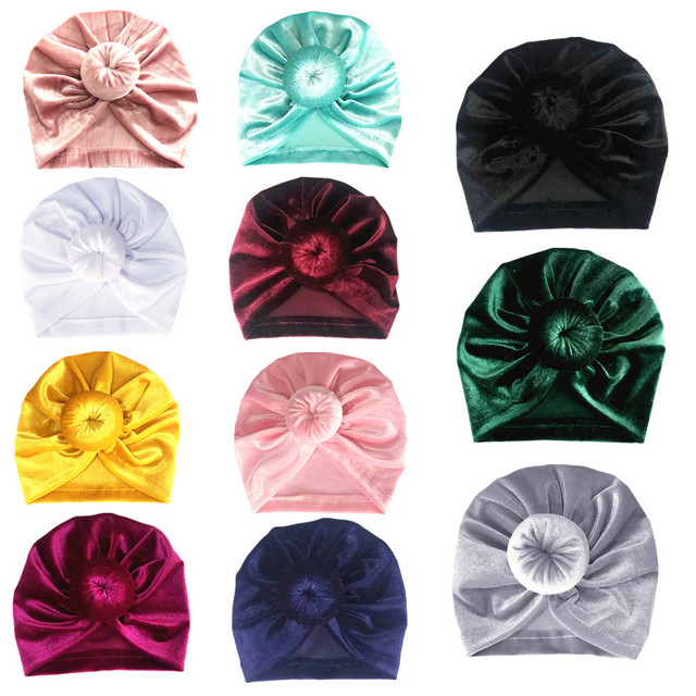 Cute Baby Girl's Turban Style Hats