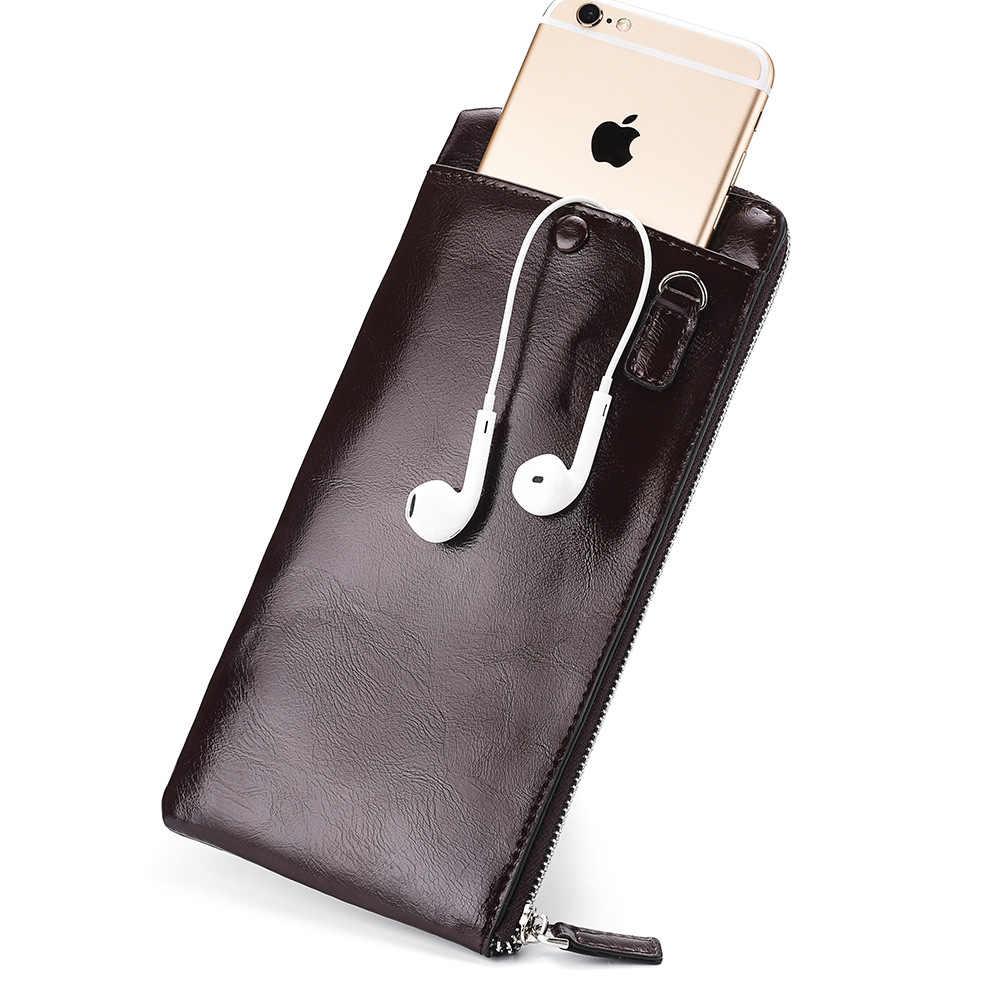 남성 지갑 클래식 롱 스타일 카드 홀더 남성 지갑 품질 지퍼 대용량 핸드폰 브랜드 럭셔리 지갑