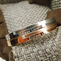 Top Quality Endless love frosted brand  Fashion Jewelry Cuff Carter Bracelets Bangles 316L Stainless Steel Bracelets For Women