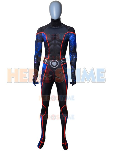 Wiccan Billy Kaplan Costume Spandex Printing Young Avengers Wiccan Costume Halloween Superhero Cosplay Bodysuit Custom Made