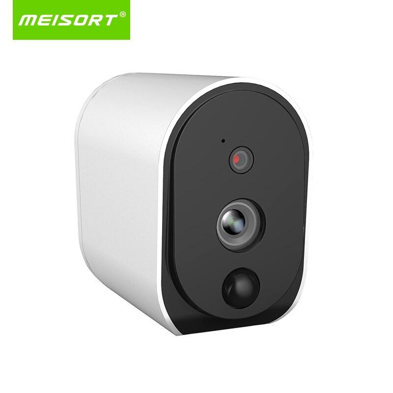 Meisort Fil-Livraison Batterie Caméra IP 1080 p Extérieure Full HD Sans Fil Résistant Aux Intempéries de Sécurité Intérieure WiFi IP Cam