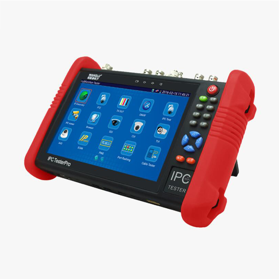 IP Camera Tester CCTV Tester 7Inch IPS touch screen 5 IN 1: IP Analog TVI CVI AHD Built-in WIFI Power bank PoE power output ips touch screen cvbs ahd dahua cvi tvi sdi ip cameras analog cctv camera tester