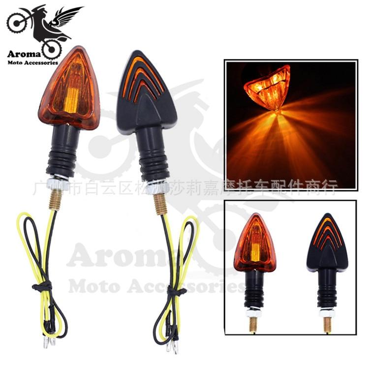 Off-road dirt pit bike amber moto LED indicator motorbike flashers blinker universal accessories motorcycle turn signal light