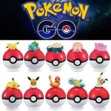 Pikachu 20 adet Pokeball + 20 adet rastgele figürü aksiyon figürleri Cosplay sahne film çevre sevimli hediye