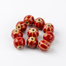 Watermelon Shape Porcelain Bead For Jewelry Making oblate  wholesale Specail Ceramic Beads 10pieces/lot #HY419