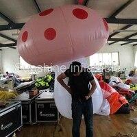 Бесплатная доставка Популярные Разработан Новый гигантский надувной Рюкзак Шар Надувной гриб для украшения распродажа